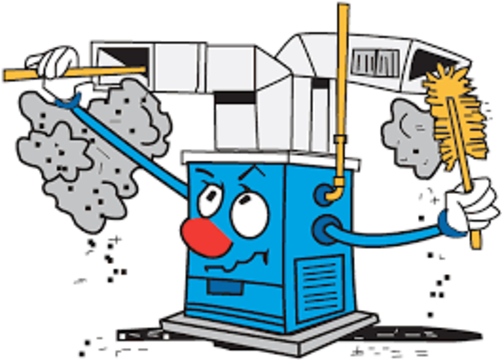 Furnace Cleaner Cartoon