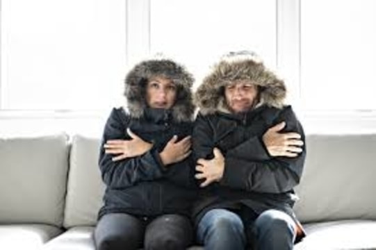 cold couple in their home